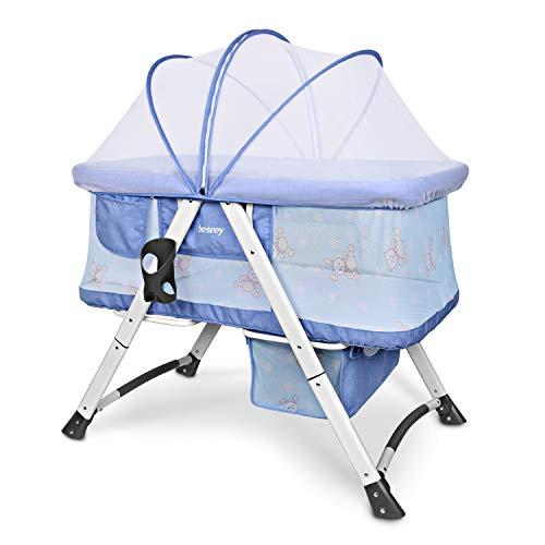 Besrey Culle Neonati Culle da Trasporto - Azzurro