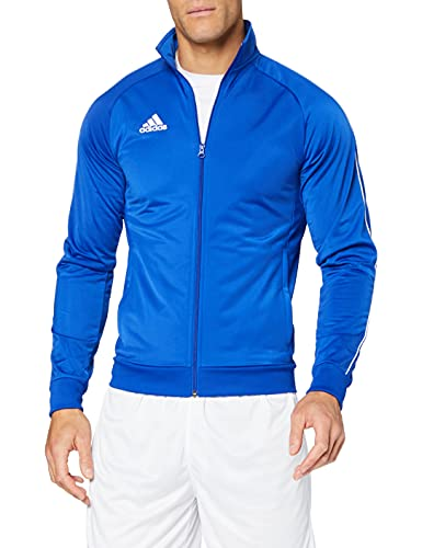 adidas Core 18 TT, Giacca Uomo, Blu (Azzurro/Bianco), M