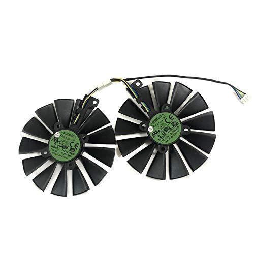 Miwaimao 2pcs GPU RX470 GTX1080TI VGA Cooler Fans ROG-POSEIDON-GTX1080TI Graphics Card Fan for ASUS ROG Strix RX 470 Video Cards Cooling