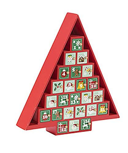 Darice Red Christmas Tree Shaped Advent Calendar
