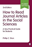 How to Read Journal Articles in the Social Sciences (Student Success)