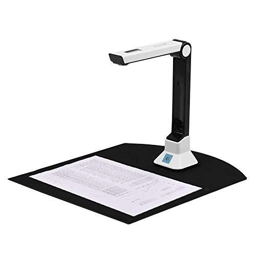 Vogvigo scanner portatile per libri e documenti, scanner ad alta definizione con funzione di registrazione video di proiezione in tempo reale, dimensioni di scansione A4