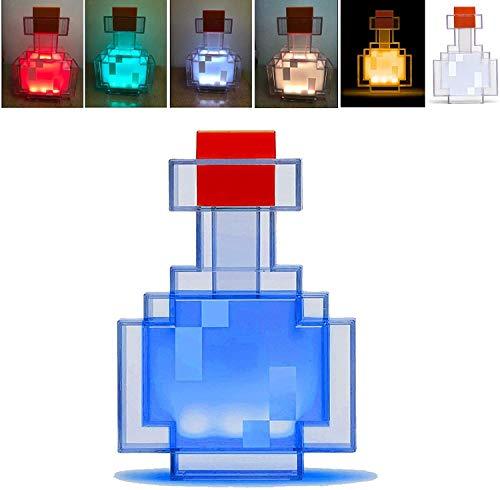 Luces de botella de poción que cambian de color, lámpara de noche con control de agitación, juguete de 8 botellas de luz para niños
