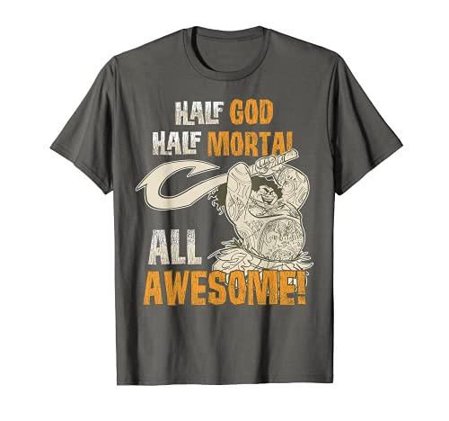 Disney Moana Maui All Awesome Distressed Graphic T-Shirt C1