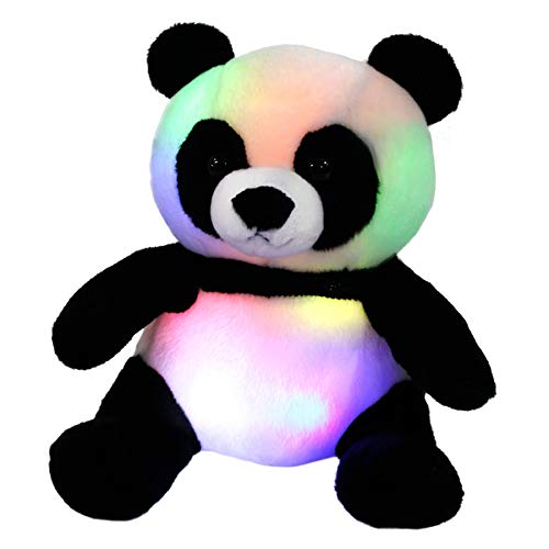 WEWILL LED Panda Stuffed Animal Glow Soft Plush Toys Light up in Dark Bedtime Companion Birthday Gift for Kids on Christmas Festival Occasions, 11.5 inch