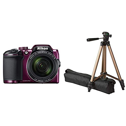 Nikon Coolpix B500 Kamera Pflaume & AmazonBasics 127cm (50