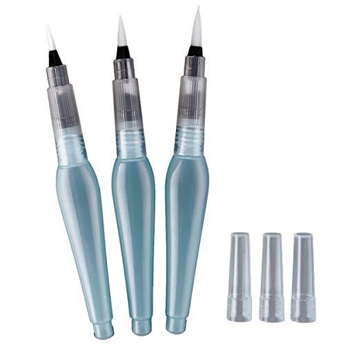 VIDOO 3Pcs S/M/L Wasser Pinsel Tintenstift Für Wasser Farbe Kalligraphie Zeichnung Farbe Anfänger