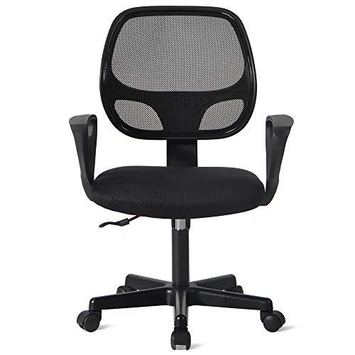 Silla de oficina, silla de escritorio,silla giratoria,silla de juegos,silla de oficina,150 kg,silla de escritorio ergonómica,silla giratoria de malla, altura ajustable,soporta hasta 250 kg,color negro