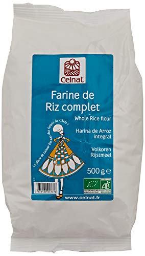 CELNAT Farine de Riz Complet Bio Sac500 g