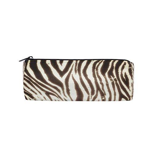 Estuche de lápices con cremallera Vintage Animal Zebra Print Rollo Lápiz Bolígrafo Bolsa Titular Bolsa de...
