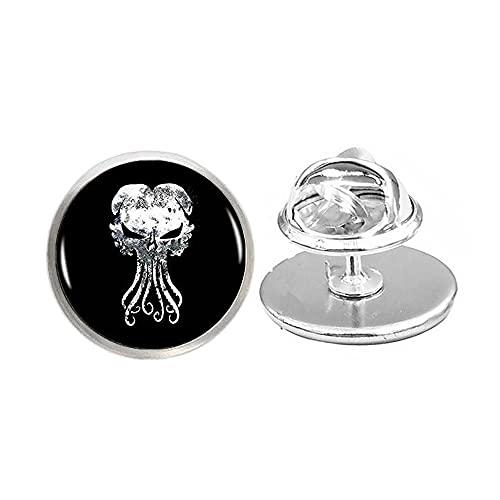 Broche hecho a mano de Cthulhu, broche de cúpula de cristal Kraken, regalo para ella, joyería libre nekel, broche delicado, simple broche, N138