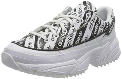 adidas Damen W KIELLOR Gymnastikschuh, White Black, 40 EU