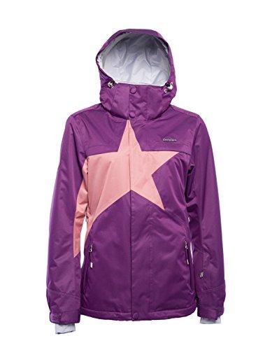 Zimtstern Damen Snowy Herringbone Snow Jacket, Plum, S