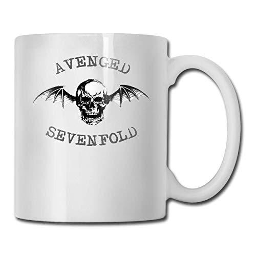 Taza Avenged Sevenfold, taza de café con personalidad, taza de agua, té, bebida, taza de té, taza de café, divertida taza de café, taza de cerámica blanca