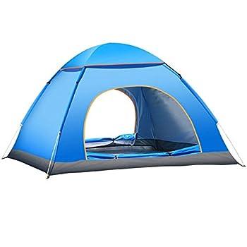 Tente de camping 3-4 personnes, tente imperm??able pliante deux portes avec sac de transport Installation facile, tentes de randonn??e pour couples, camping familial, randonn??e p??destre, chasse