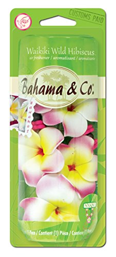 Bahama & Co. Scented Flower Necklace Car & Home Odor Eliminating Air Freshener - Waikiki Wild Hibiscus