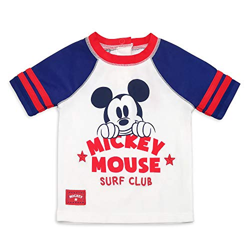 Disney Mickey Mouse Rash Guard for Boys, Size 18-24 Months