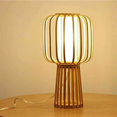 Tafellamp, bedlampje, leeslamp, buis van bamboe, kunstlamp van bamboe, kroonluchter, verlichting van bamboe, antiek