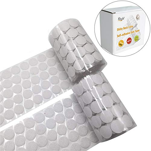 1000 Pieces Adhesive (500 Pair Sets) 0.39in Diameter Sticky Back Coins Hook & Loop Self Adhesive Dots Tapes Magic Sticky Dots