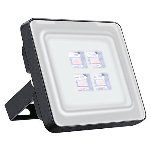 Viugreum Lampada LED Esterni 10W Impermeabile di VI Generazione Basso Consumo Lampada Luce Potente Super Luminosa Faretto da Giardino Garage Bianco Caldo