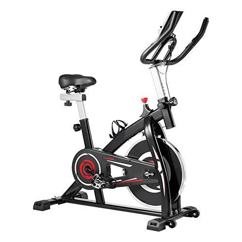 YBZS Bicicleta Estática para Interiores, Bicicleta De Ejercicios Giratoria Familiarultra Silenciosa para,aeróbico Tipo Cojín Cómodo con,Pantalla LCD / 150 Kg De Peso,A