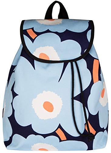 Marimekko Unikko Erika Rucksack blau 40x32x12 cm