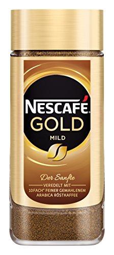 NESCAFÉ GOLD Mild, löslicher Bohnenkaffee aus erlesenen Kaffeebohnen, Instant-Pulver, koffeinhaltig & aromatisch, 1er Pack (1 x 200g)