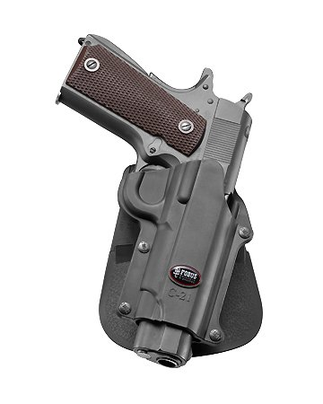 Fobus Conceal concealed carry 5cm Police Wide Belt ROTO Rotating Holster for Colt 45 Government & All 1911 style / FN High power / FN 49 / Kimber 4&5 inch / Sasilmaz Klinic 2000 light / Browning Hi-power Mark III 4, 5mm. / Browning GPDA 9