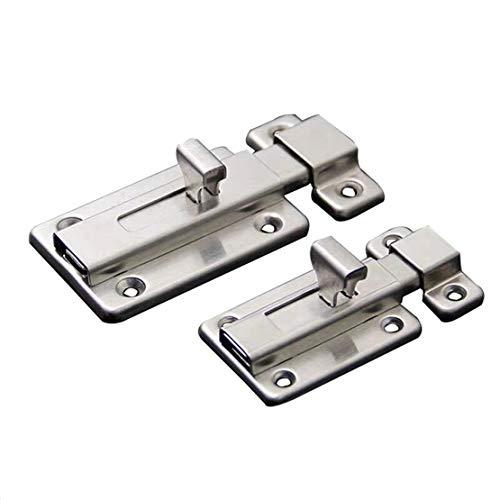 """XYY Stainless Steel Door Latch Sliding Lock Barrel Bolt Stainless Steel Door Bolt Sliding Lock Latch Barrel Bolt2PCS (3"""")"""