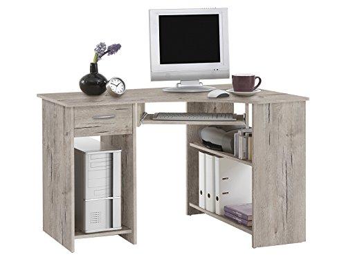 möbelando Eckschreibtisch Winkelschreibtisch Computertisch Schreibtisch Jay