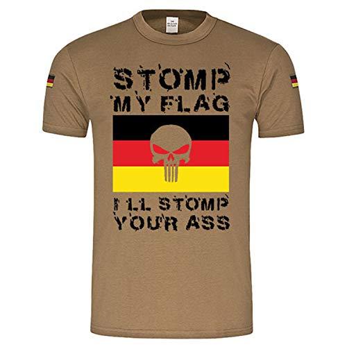 Copytec 15906 Tropenshirt Stomp My Flag I Ll Stomp Your Ass Germany Flag # - Vert - XXX-Large