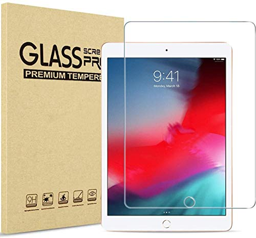 Screen Protector for iPad (9.7-Inch, 2018/2017 Model, 6th/5th Generation), iPad Air 1, iPad Air 2, iPad Pro 9.7-Inch, Tempered Glass Film (Transparent)