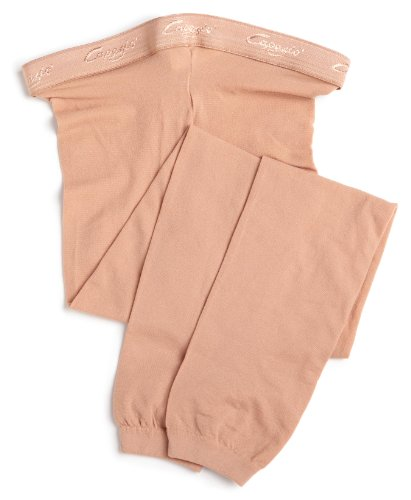 Capezio girls Hold & Stretch Footless Tight Socks, Light suntan, Large (12-14)