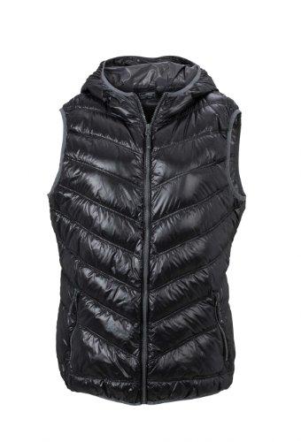 James & Nicholson Damen Jacke Weste Ladies' Vest schwarz (black/grey) X-Large