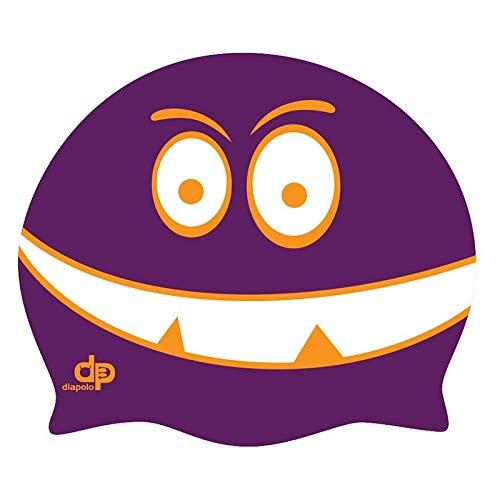 Diapolo Professionale Schwimmkappe Monster Purple Silikon Badekappe Bademütze Schwimmmütze für Damen und Herren und Mädchen und Jungen