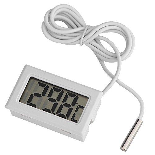 Kafuty Mini Pantalla LED Digital Medidor de Temperatura Sensor de Sonda Digital LCD Termómetro Utilizado en Acuarios, Aves, Reptiles, Incubadoras, Invernaderos