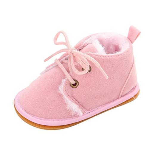 Lazzboy Babyschuhe Baby Schuhe Weiche Sohle Turnschuhe Winterschuhe Heligen Kleinkind Leuchtende Stern Leuchtendes Kind Zufällige Bunte(Rosa,12(6~12 M))