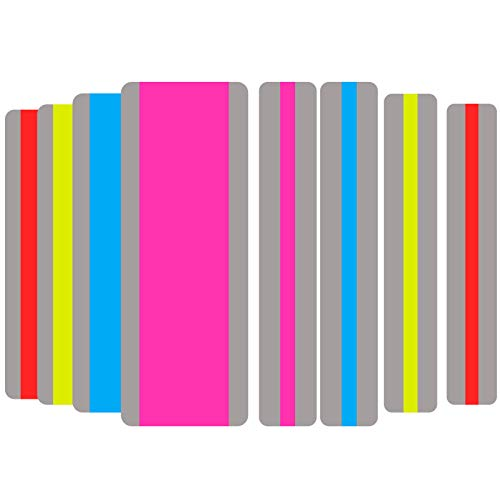 Dyslexia Tools for Kids, 8 Pieces Guided Reading Strips Highlight Strips Colored Overlay Highlighter Bookmarks Tracking Rulers Helps with Reduce Visual Stress Children Assistant(2 Sizes,4 Colors)