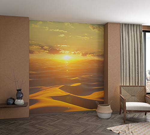 marburg Fototapete XXL Orange Braun Motiv Wellen Natur Tapete für Schlafzimmer Wohnzimmer oder Küche 100% Made in Germany PREMIUM QUALITÄT 2,70m x 2,12m 32545
