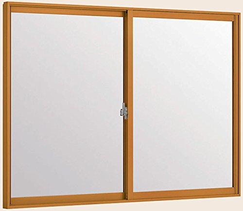 トステム インプラス 引き違窓 2枚建 単板ガラス 幅1501~2000mm×高1001~1400mm 5mm透明ガラス 枠色:ニュートラルウッドG オーダー商品