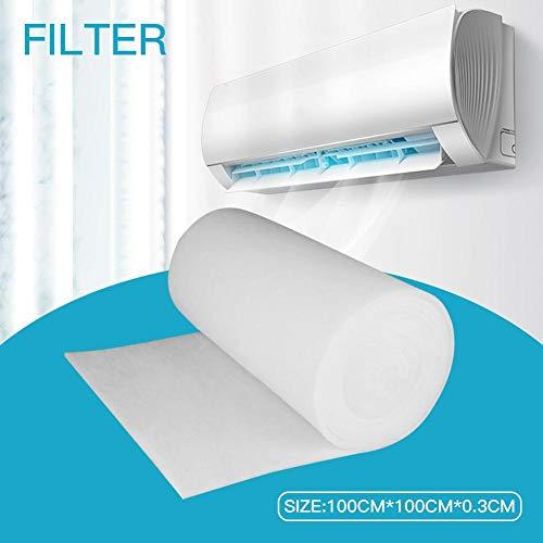 Niumen Klimaanlagenfilter, Aktivkohle Wasserfilter Vorfilter Baumwolle Staubfilter Papier für Klimaanlagenfilter 100 cm 100 cm 3 mm