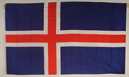 Drapeau de l'Islande Grand format aux intempéries 250 x 150 cm Drapeau