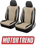 xterra 2003 seat covers - Motor Trend M424 Beige Synth Leather Snake Eyes Car Seat Covers, Fronts Only – Universal Fit for Auto Truck Van SUV