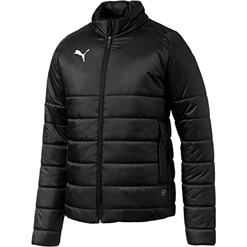 Puma Men Liga Casuals Padded Jacket Winter Jacket - Black-Puma White, M