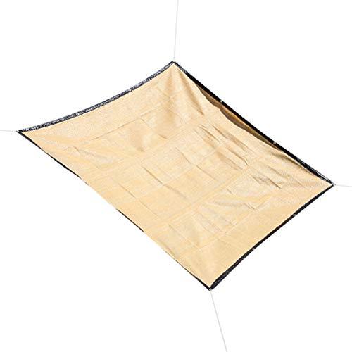 1st utomhus solskydds segel Anti-aging PE Canopy vattentätt solskydds segel för trädgårdssimning beige Rekvisita Utomhus