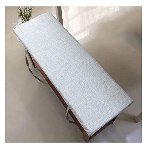 Cojín de Asiento de Banco Cojín de Asiento Suave Cojín de algodón para Muebles de Patio Banco de Cocina o Comedor Uso en Interiores y Exteriores Cómodo-D 100 × 35 × 4cm (39 × 14 × 1.6in)