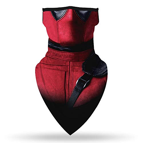 SRVOKOX Spider Man Bandana Neck Gaiter Face Mask Covering Bandanas for Men Women Summer UV Cooling Face Scarf Mask Cover Ear Loop Hole Triangle Facemask for Fishing Running Hunting Cycling Hiking Red