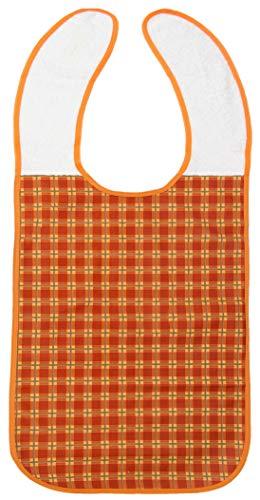 Zollner Babero impermeable para adulto, reutilizable, 45x90 cm, naranja