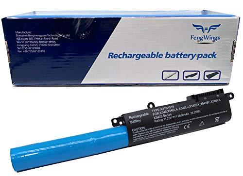 FengWings A31N1519 11.25V 2600mAh bateria reemplazar por ASUS X540 X540LA X540LJ X540SA X540SC X540YA X540S F540 F540L F540LA F540S F540SA F540Y R540 R540L R540LA R540S R540SA R540Y