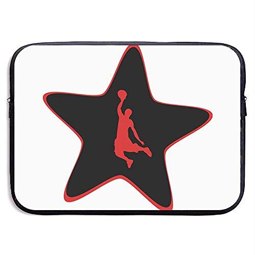 Laptop Hülle Basketball Star Mit Einhand Dunk Neopren Cover Bag Kompatibel MacBook Air/Pro,13 Zoll/33X26 cm